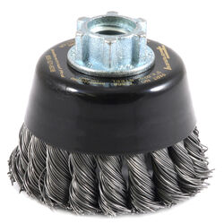 Forney 3 in. Dia. x 5/8 in. Coarse Steel Cup Brush 15000 rpm 1 pc.