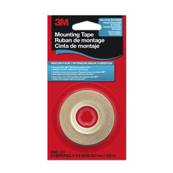 3M Clear Indoor Mounting Tape 1/2 in. W x 41.4 ft. L