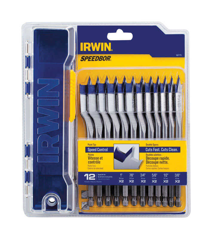 Irwin  Speedbor  Steel  Wood Bit  12 pc.