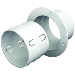 Ace  EZ Dock  6 in. L x 4 in. Dia. Silver/White  Plastic  Dryer Clean Out Connector