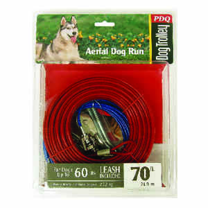 Boss Pet  PDQ  Red  Tie-Out  Vinyl Coated Cable  Dog  Tie Out  Large