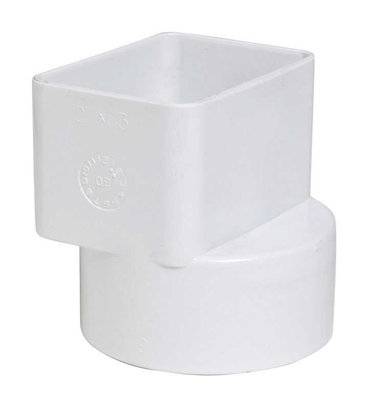 Plastic Trends  3 in. Hub   Female  Flush Downspout Adapter