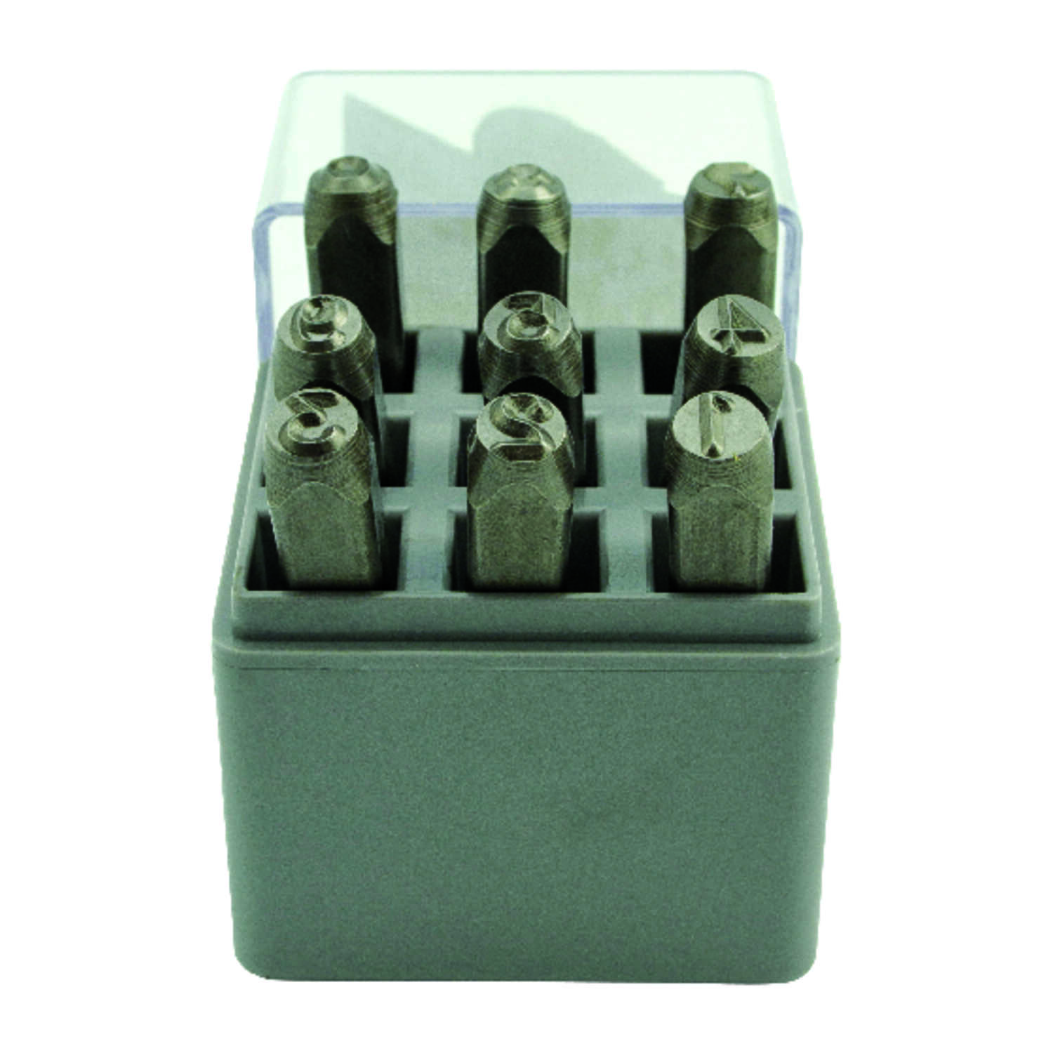 C.H. Hanson  1/4 in. Gray  Steel  Number Stamp Set  0-9  Nail-On  1 pk