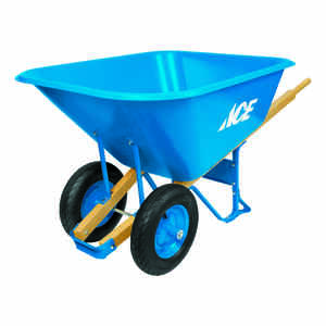 Ace  Poly  Wheelbarrow  10 cu. ft.