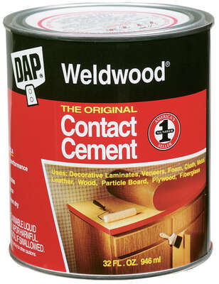 DAP  Weldwood  High Strength  Rubber  Contact Cement  1 qt.