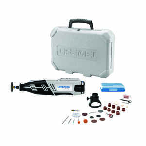 Dremel  8220  1/8 in. Cordless  Rotary Tool  Kit 12 volt 35000 rpm 28 pc.