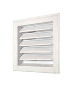 Master Flow  12 in. W x 12 in. L White  Plastic  Wall Louver