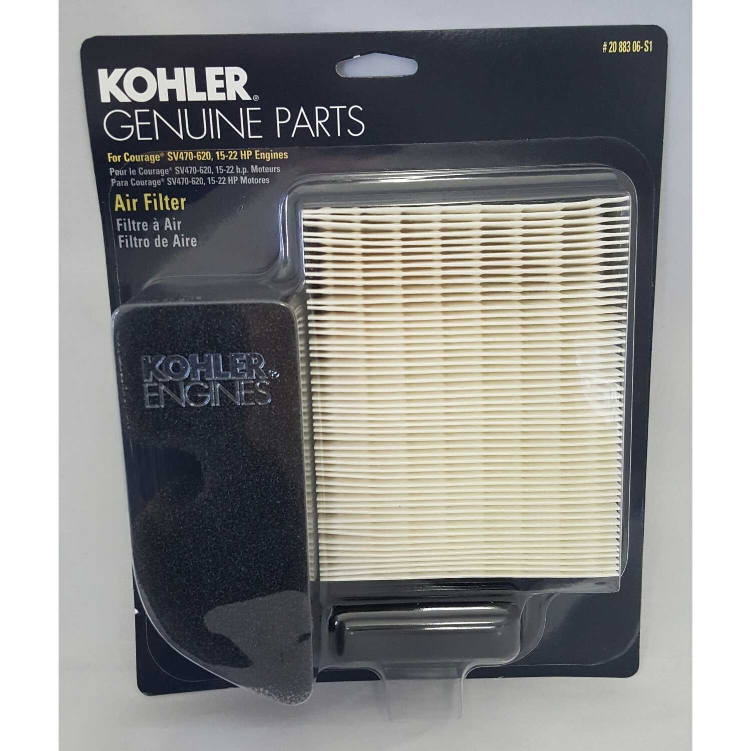Kohler  Small Engine Air Filter  For Courage Single SV470-620