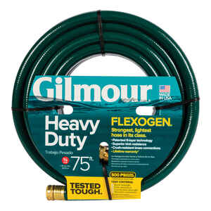 Gilmour  Flexogen  75 ft. L x 3/4 in. Dia. Heavy-Duty  Gray  Hose