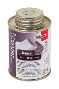 Rectorseal  Sam  Clear  PVC Cement  For ABS/CPVC/PVC 4 oz.