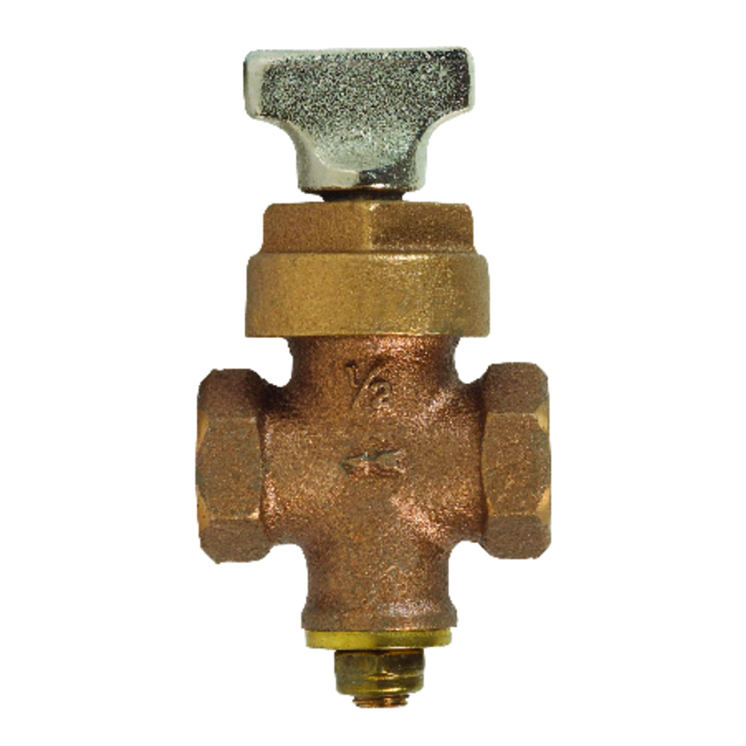 ProLine  1/2 in.  x 1/2 in.  Stop Valve  Stop and drain valve  Bronze