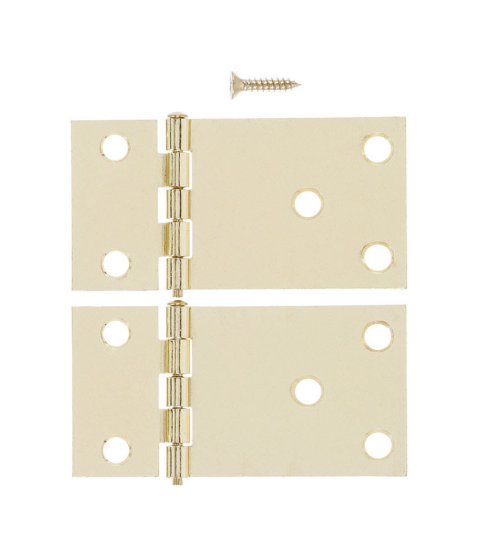 Ace  1-1/2 in. L Bright Brass  Steel  Wide Throw Shutter Hinge  1 pk