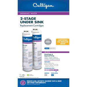 Culligan  2 Stage  Replacement Water Filter  For Under Sink 500 gal.