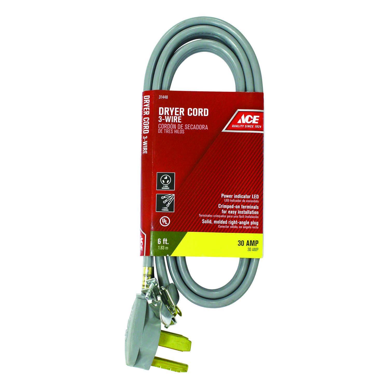 Ace 10/3 SRDT 6 ft  L Dryer Cord 3 Wire - Ace Hardware