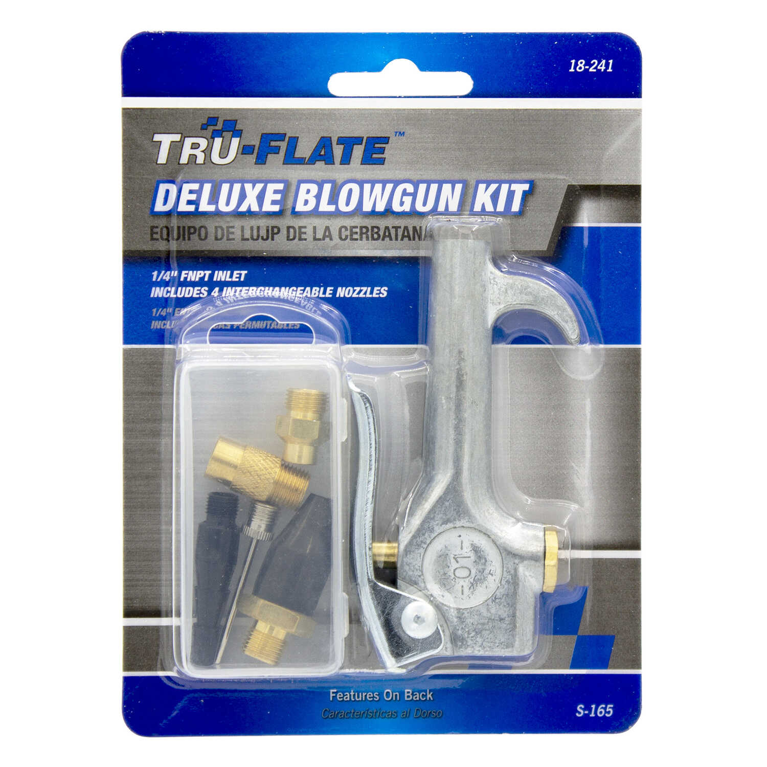 Tru-Flate  Steel  Air Blow Gun Safety Lever  1/4  NPT