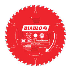 Freud  10 in. Dia. x 5/8 in.  Carbide Tip  Circular Saw Blade  40 teeth 1 pk
