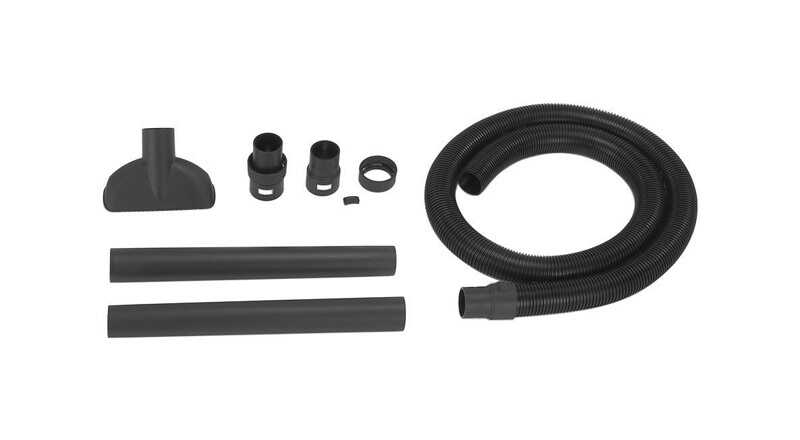 Shop-Vac  16 in. L x 4 in. W x 2-1/2 in. Dia. Bulk Dry Pickup Kit  Black  8 pc.