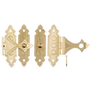 Ace  Antique  Brass  Decorative Catch  2 pk 1.4 in.