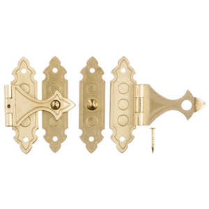 Ace  Antique  Brass  1.4 in. L x 0.9 in. W 1.4 in. Decorative Catch  2 pk
