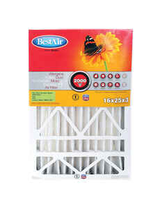 BestAir  25 in. W x 16 in. H x 3 in. D 11 MERV Pleated Air Filter