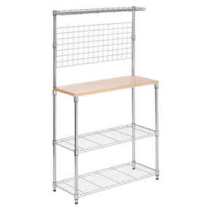 Honey Can Do  61-1/4 in. H x 35-3/4 in. W x 14-1/4 in. D Steel  Baker's Rack