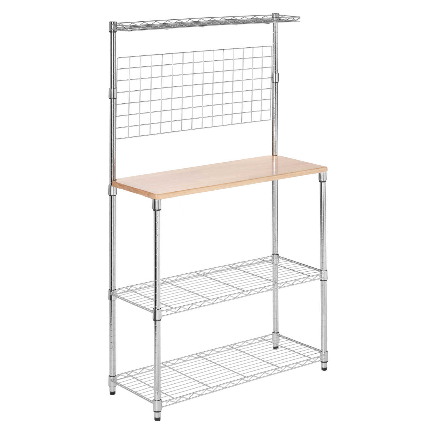 Honey Can Do  61-1/4 in. H x 14-1/4 in. D x 35-3/4 in. W Steel  Baker's Rack