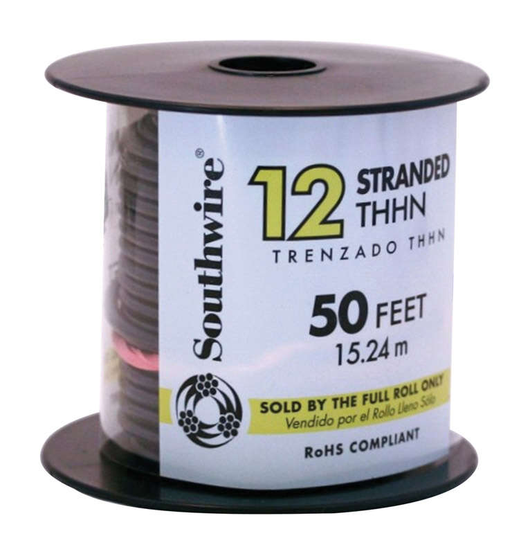 Southwire  50 ft. 12/1  THHN  Stranded  Building Wire