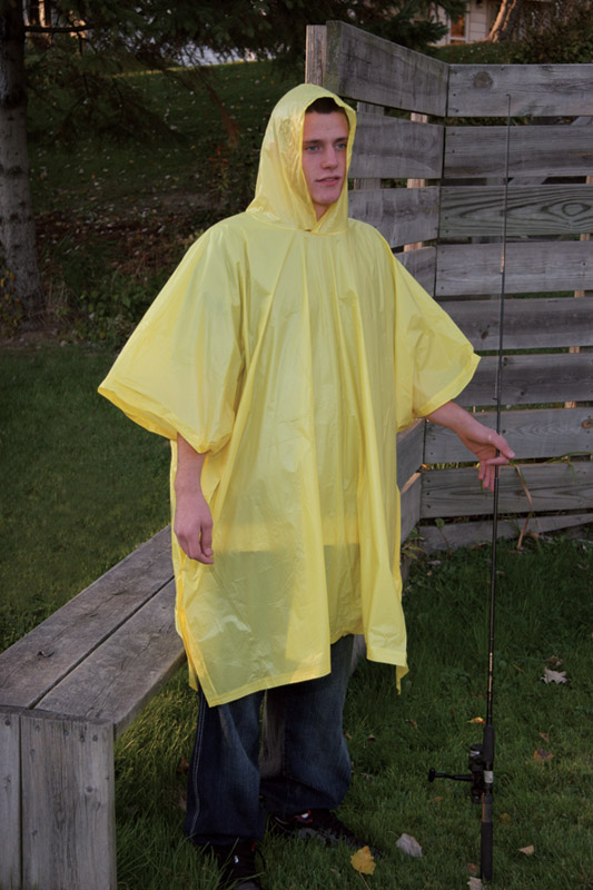 Boulder Creek  Yellow  Vinyl  Rain Poncho