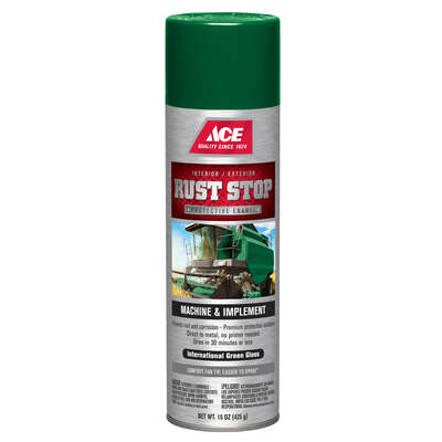Ace Rust Stop Gloss International Green Protective Enamel Spray 15 oz.