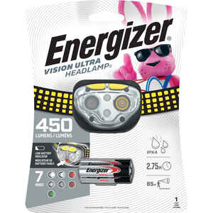 Energizer  450 lumens Black/Yellow  LED  Headlight  AAA Battery