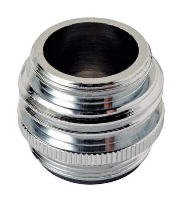 BrassCraft  Dual Thread  15/16 in.-27M x 55/64 in.-27F  Chrome Plated  Aerator Adapter
