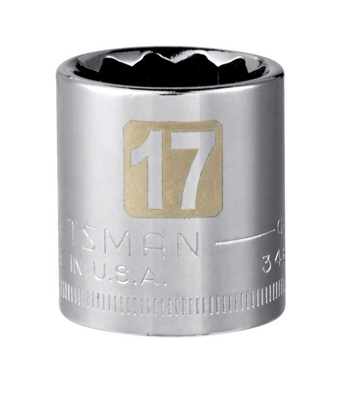 Craftsman  17 mm  x 3/8 in. drive  Metric  12 Point Standard  Socket  1 pc.