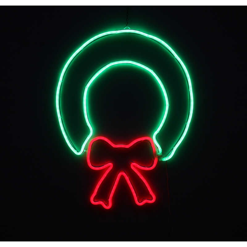 Star Bright  LED Wreath  Silhouette  Green-Red  Metal/Plastic  1 pk