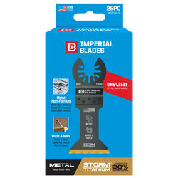 Imperial Blades One Fit 4-1/8 in. L x 1-3/8 in. Dia. Titanium-Coated Bi-Metal Oscillating Saw Bla