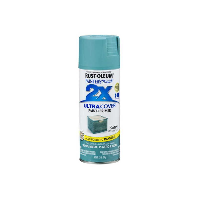 Rust-Oleum  Painter's Touch  Satin  Vintage Teal  Spray Paint  12 oz.