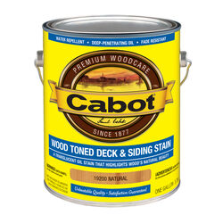 Cabot  Transparent  19200 Natural  Oil-Based  Penetrating Oil  Deck and Siding Stain  1 gal.