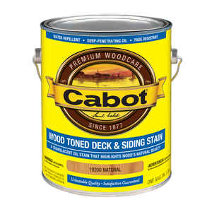 Cabot  Transparent  Natural  Oil-Based  Deck and Siding Stain  1 gal.