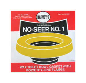 Harvey's  No-Seep  Wax Ring  Polyethylene/Wax  For 3 inch and 4 inch Waste Lines