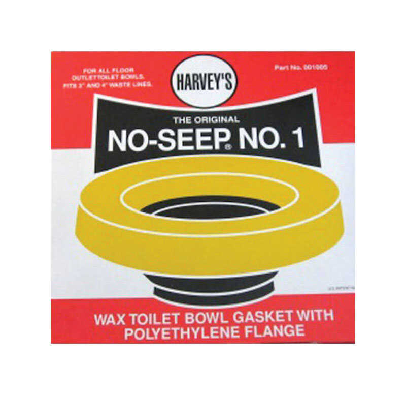 Harvey's  No-Seep No. 1  Wax Ring  Polyethylene / Wax