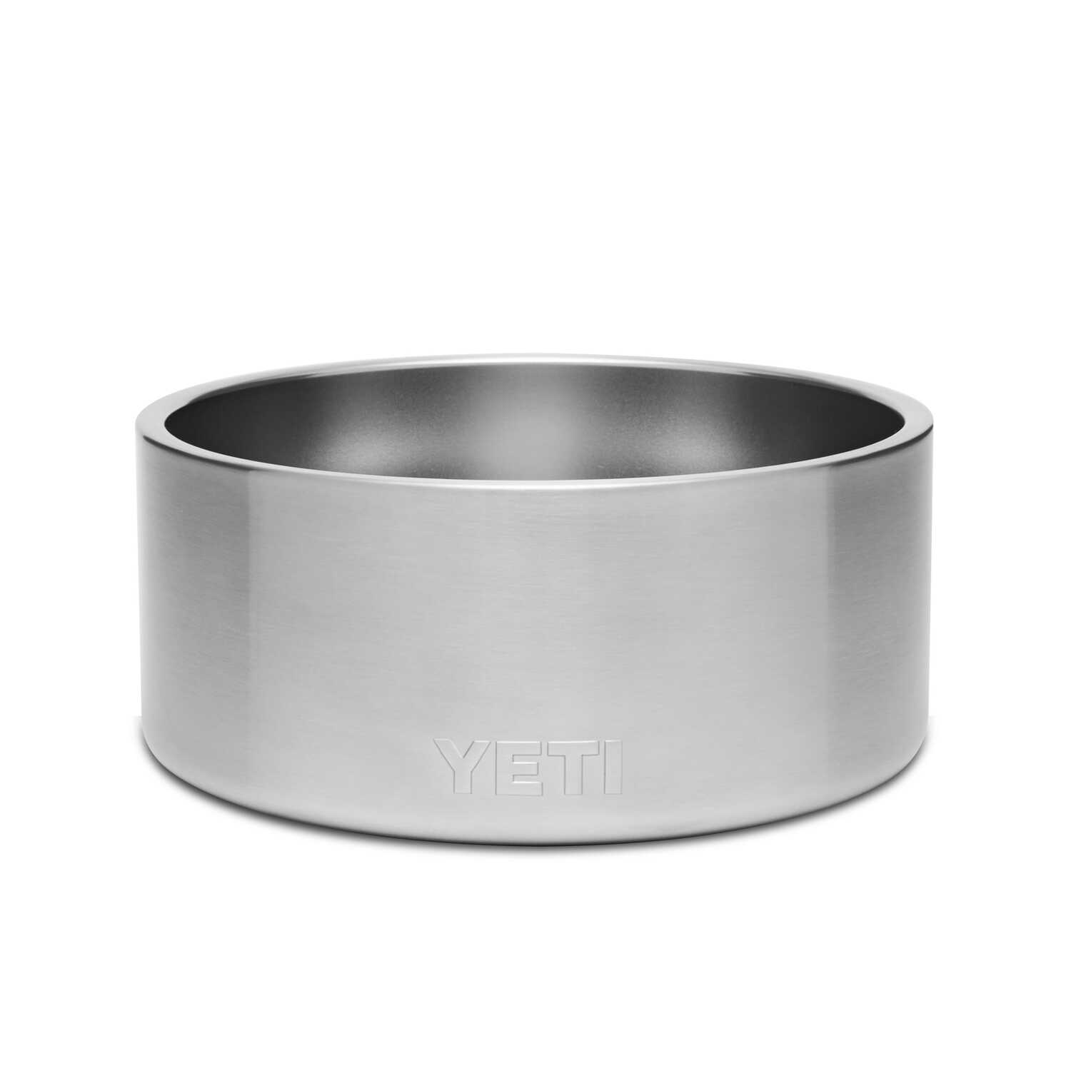 YETI  Boomer  Silver  Stainless Steel  8 cup Pet Bowl  For Dogs