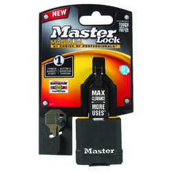 Master Lock  1-7/8 in. H x 1-3/16 in. W x 1-3/4 in. L Vinyl Covered  Dual Ball Bearing Locking  Padl