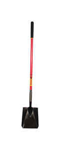 Razor-Back  Steel  9-1/2 in. W x 59.25 in. L Square point  Shovel  Fiberglass