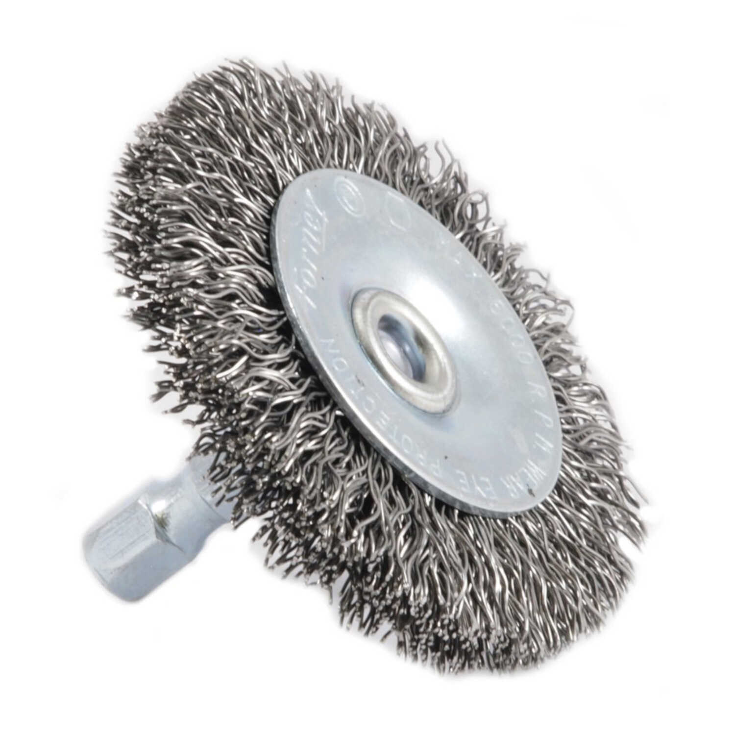 Forney  2 in. Crimped  Wire Wheel Brush  Metal  6000 rpm 1 pc.