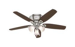 Hunter Fan  Builder Low Profile  52 in. Brushed Nickel  Indoor  Ceiling Fan