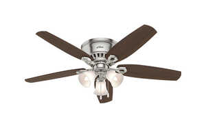 Hunter Fan  Builder Low Profile  5 blade Indoor  Brushed Nickel  Ceiling Fan