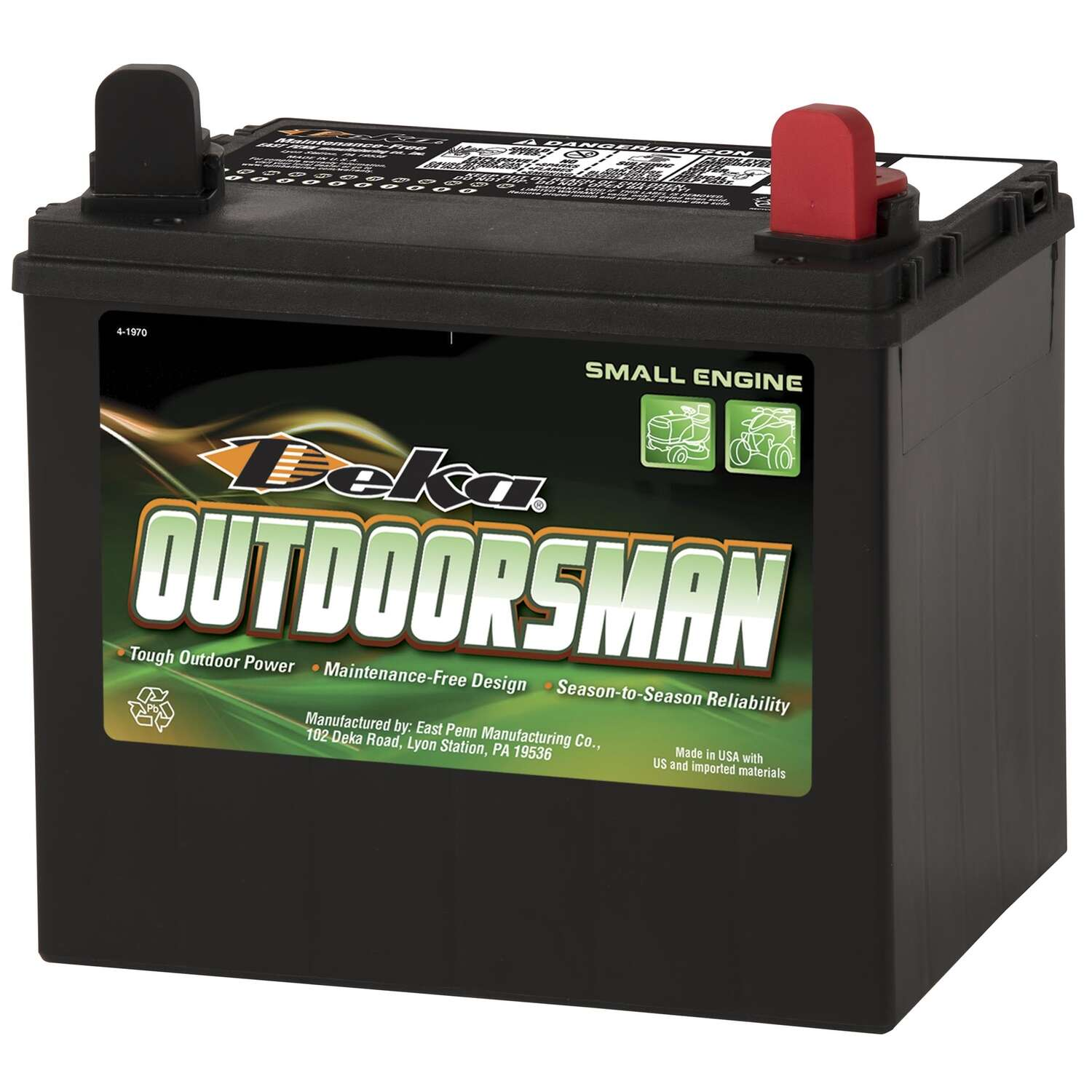 Deka  Outdoorsman  350 CCA 12 volt Small Engine Battery