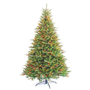 Celebrations  7-1/2 ft. Multicolored  Prelit Frasier Fir  Artificial Tree  750 lights