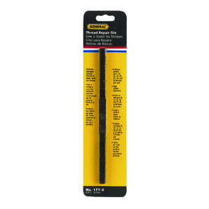 General Tools  8-1/2 in. L High Carbon Steel  Assorted  Thread Repair File