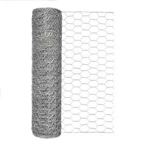 Garden Zone  18 in. H x 25 ft. L 20 Ga. Silver  Poultry Netting