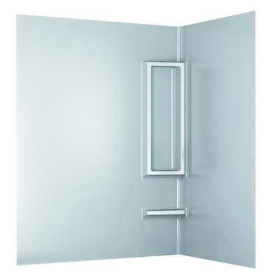 Delta Bathing System  58 in. H x 29.5 in. W x 61.50 in. L White  Shower Wall